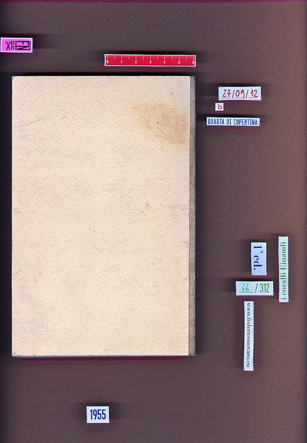 James M. Cain, Serenata. Einaudi 1955. i coralli 66. Quarta di copertina