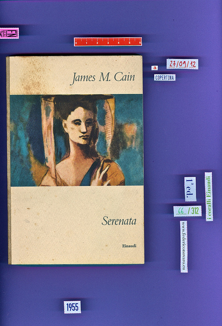 James M. Cain, Serenata. Einaudi 1955. i coralli 66. Copertina